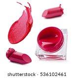 lipstick and lip gloss on a... | Shutterstock . vector #536102461