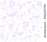 unicorns are depicted in the... | Shutterstock .eps vector #536102794