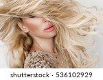 beautiful sexy blonde model... | Shutterstock . vector #536102929