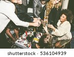 party people celebrating in the ... | Shutterstock . vector #536104939