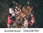 group of friends making... | Shutterstock . vector #536108785