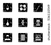 diagnosis icons set. grunge...   Shutterstock .eps vector #536110549