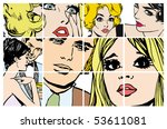 stock illustrations with... | Shutterstock . vector #53611081
