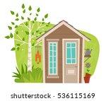 cute garden shed   clip art of...