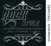 handcrafted vector script... | Shutterstock .eps vector #536116681