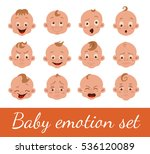 baby facial expression isolated ... | Shutterstock .eps vector #536120089