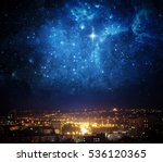 city landscape at nigh with sky ... | Shutterstock . vector #536120365