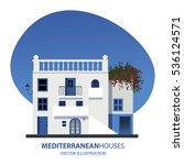 mediterranean houses. vector... | Shutterstock .eps vector #536124571