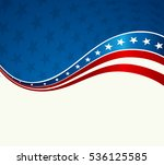 patriotic wave background. usa... | Shutterstock . vector #536125585