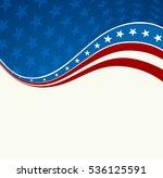 patriotic wave background. usa... | Shutterstock . vector #536125591