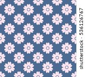 seamless pattern with pink... | Shutterstock .eps vector #536126767