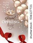 elegant grand opening... | Shutterstock .eps vector #536127721
