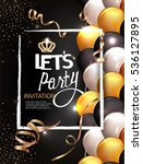 let's party background with... | Shutterstock .eps vector #536127895