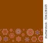 seamless pattern of stylized... | Shutterstock .eps vector #536128105