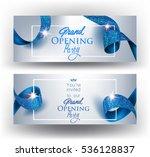 elegant grand opening... | Shutterstock .eps vector #536128837