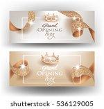 elegant grand opening... | Shutterstock .eps vector #536129005