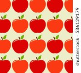 red apple vector illustration   Shutterstock .eps vector #536129179