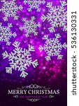 christmas banner with glowing...   Shutterstock .eps vector #536130331