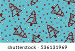 holiday pattern with christmas... | Shutterstock .eps vector #536131969
