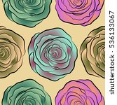 cute seamless pattern in small... | Shutterstock .eps vector #536133067