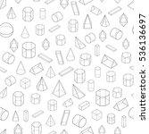 set of 3d geometric shapes.... | Shutterstock .eps vector #536136697