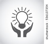 hands and bulb light icon over... | Shutterstock .eps vector #536137354