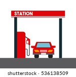 gas station and car icon over... | Shutterstock .eps vector #536138509