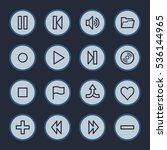 media player web icons set | Shutterstock .eps vector #536144965