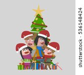 3d illustration. family posing... | Shutterstock . vector #536148424