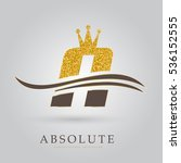 luxury golden letter a   with... | Shutterstock .eps vector #536152555