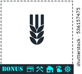 agriculture icon flat. simple... | Shutterstock .eps vector #536157475