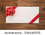 envelope with decorative red... | Shutterstock . vector #536160535