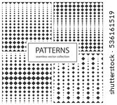 collection of halftone seamless ...   Shutterstock .eps vector #536161519