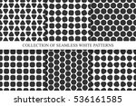 collection of seamless simple... | Shutterstock .eps vector #536161585