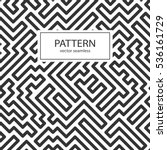 striped seamless geometric... | Shutterstock .eps vector #536161729