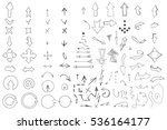 hand drawn arrows collection...   Shutterstock .eps vector #536164177