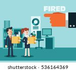 dismissed frustrated business... | Shutterstock .eps vector #536164369
