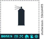 spray icon flat. simple vector... | Shutterstock .eps vector #536164495