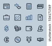 finance web icons set | Shutterstock .eps vector #536171569