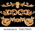 ornament gold on a black...   Shutterstock . vector #536173825