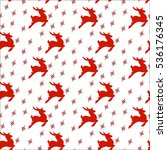 seamless christmas pattern deer | Shutterstock .eps vector #536176345