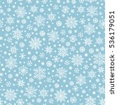 snowflake hand drawn vector... | Shutterstock .eps vector #536179051