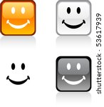 smiley glossy square vibrant... | Shutterstock .eps vector #53617939