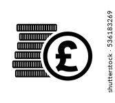 British Pound Money Coins Sign...
