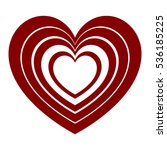 dark red hearts in each other... | Shutterstock .eps vector #536185225