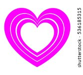 violet hearts in each other and ... | Shutterstock .eps vector #536185315