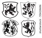 heraldic lions   shields... | Shutterstock .eps vector #53618686