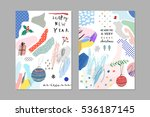 set of creative happy new year... | Shutterstock .eps vector #536187145