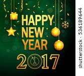 happy new year background with...   Shutterstock . vector #536189644