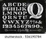 vintage font set letters in... | Shutterstock .eps vector #536190784